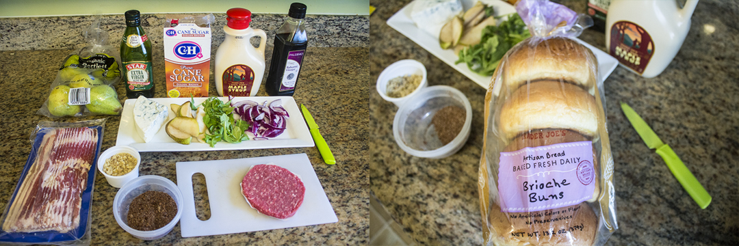 The Blue Pear Burger recipe ingredients