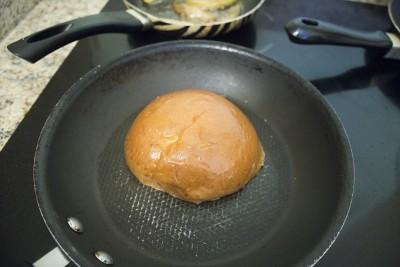 Blue Pear Burger brioche bun